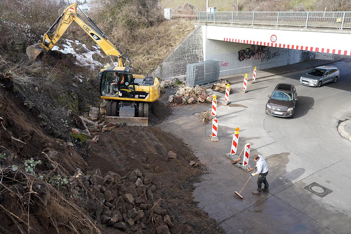 Stützwand in Schkeuditz wird saniert